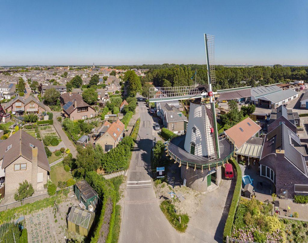 Dronefoto molen De Arend