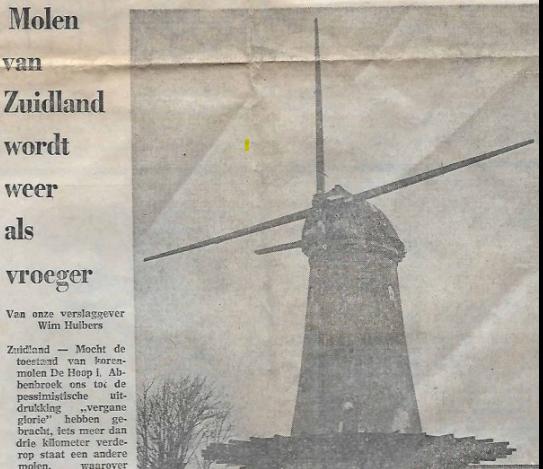 Krantenartikel 1973 duim